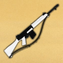 White FN FAL rifle (New old stock)