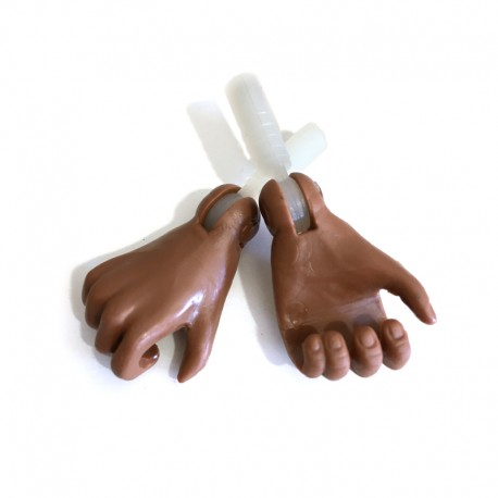 Black hands for Muscle Body figure