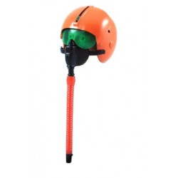 Orange Fighter Pilot Helmet