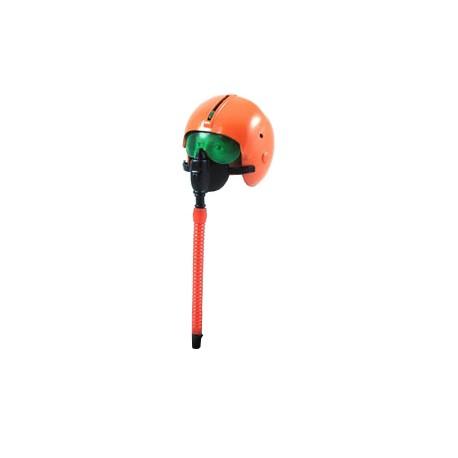 Orange Fighter Pilot Helmet