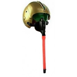 Golden Fighter Pilot Helmet