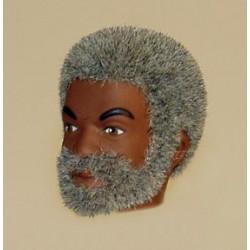 Tête de Sam repro barbu gris