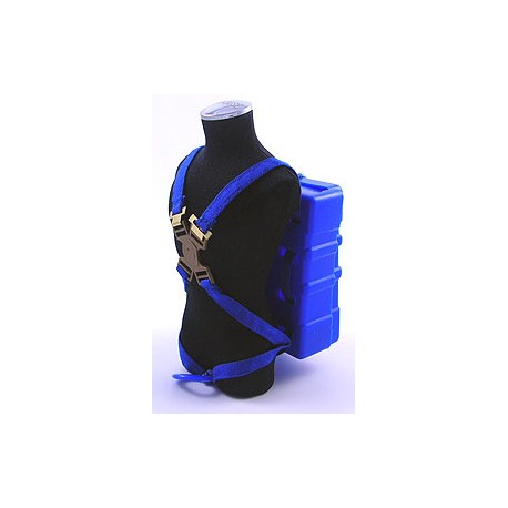 Blue Parachute Rig with Straps