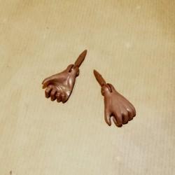 Mains noires pour mannequin Sam vintage