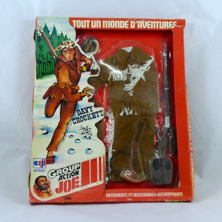 Blister tenue Davy Crockett Trappeur Action Joe