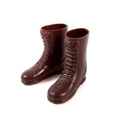 Paire de bottes marron repro
